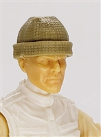 "Headgear: Knit Cap ""Ski Cap"" TAN Version - 1:18 Scale Modular MTF Accessory for 3-3/4"" Action Figures"