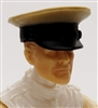 "Headgear: Officer Cap ""Dress Hat"" TAN Version - 1:18 Scale Modular MTF Accessory for 3-3/4"" Action Figures"