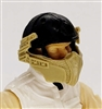 "Headgear: Armor Face Shield for Helmet TAN Version - 1:18 Scale Modular MTF Accessory for 3-3/4"" Action Figures"