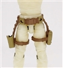 "Belt with Drop Down Leg Holster: TAN & Brown Version - 1:18 Scale Modular MTF Accessory for 3-3/4"" Action Figures"