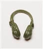 "Headgear: Radio Headset Headphones GREEN Version - 1:18 Scale Modular MTF Accessory for 3-3/4"" Action Figures"