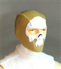"Male Head: Balaclava DARK TAN Mask with White ""SKULL"" Deco - 1:18 Scale MTF Accessory for 3-3/4"" Action Figures"