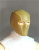 "Male Head: Balaclava Mask DARK TAN Version - 1:18 Scale MTF Accessory for 3-3/4"" Action Figures"