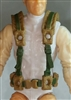 "Male Vest: Harness Rig DARK TAN with Green Version - 1:18 Scale Modular MTF Accessory for 3-3/4"" Action Figures"