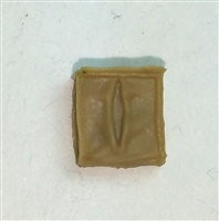 "Ammo Pouch: Empty DARK TAN Version - 1:18 Scale Modular MTF Accessory for 3-3/4"" Action Figures"