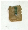 "Pocket: Small Size DARK TAN & Green Version - 1:18 Scale Modular MTF Accessory for 3-3/4"" Action Figures"
