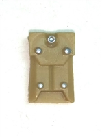 "Armor Panel: Large Size DARK TAN Version - 1:18 Scale Modular MTF Accessory for 3-3/4"" Action Figures"