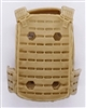 "Male Vest: Plate Carrier Type DARK TAN Version - 1:18 Scale Modular MTF Accessory for 3-3/4"" Action Figures"
