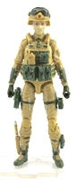 "DELUXE MTF Female Valkyries DARK TAN & GREEN ""Assault-Ops"" Version - 1:18 Scale Marauder Task Force Action Figure"