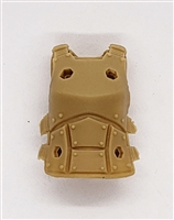 "Female Vest: Armor Type DARK TAN Version - 1:18 Scale Modular MTF Valkyries Accessory for 3-3/4"" Action Figures"