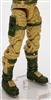 "Male Legs: DARK TAN and GREEN Cloth Legs (NO Armor) -  Right AND Left Pair-NO WAIST-LEGS ONLY  - 1:18 Scale MTF Accessory for 3-3/4"" Action Figures"