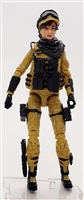 "DELUXE MTF Female Valkyries DARK TAN & BLACK ""Sierra-Ops"" Version - 1:18 Scale Marauder Task Force Action Figure"