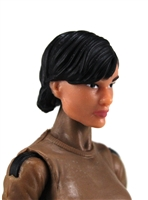 "Female Head: ""Athena""  Light Skin Tone with Black Short Hair - 1:18 Scale MTF Valkyries Accessory for 3-3/4"" Action Figures"