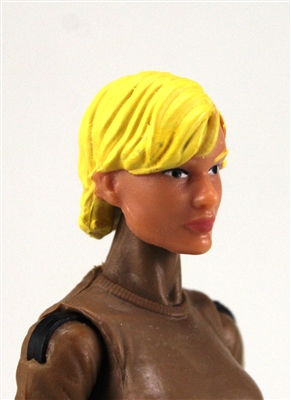 "Female Head:  ""Athena"" Light Skin Tone with Blonde Short Hair - 1:18 Scale MTF Valkyries Accessory for 3-3/4"" Action Figures"