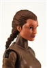 "Female Head:  ""Athena"" Light Skin Tone with Brown French Braid - 1:18 Scale MTF Valkyries Accessory for 3-3/4"" Action Figures"