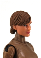"Female Head: ""Athena""  Light Skin Tone with Brown Short Hair - 1:18 Scale MTF Valkyries Accessory for 3-3/4"" Action Figures"