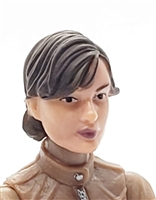"Female Head: ""Athena""  Light Skin Tone with Dark Brown Short Hair - 1:18 Scale MTF Valkyries Accessory for 3-3/4"" Action Figures"