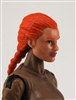 "Female Head: ""Athena""  Light Skin Tone with Red French Braid - 1:18 Scale MTF Valkyries Accessory for 3-3/4"" Action Figures"