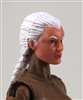 "Female Head: ""Athena""  Light Skin Tone with White French Braid - 1:18 Scale MTF Valkyries Accessory for 3-3/4"" Action Figures"