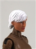 "Female Head: ""Athena""  Light Skin Tone with White Short Hair - 1:18 Scale MTF Valkyries Accessory for 3-3/4"" Action Figures"