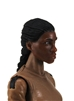 "Female Head: ""Oshun"" Dark Skin Tone with Black French Braid - 1:18 Scale MTF Valkyries Accessory for 3-3/4"" Action Figures"