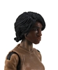 "Female Head: ""Oshun""  Dark Skin Tone with Black Long Hair - 1:18 Scale MTF Valkyries Accessory for 3-3/4"" Action Figures"