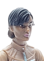 "Female Head: ""Athena""  Dark Skin Tone with Black Short Hair - 1:18 Scale MTF Valkyries Accessory for 3-3/4"" Action Figures"