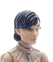 "Female Head: ""Athena"" Tan Skin Tone with Black Short Hair - 1:18 Scale MTF Valkyries Accessory for 3-3/4"" Action Figures"