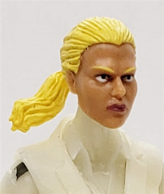 "Female Head: ""Talia""  Light Skin Tone with Blonde Hair & Pony Tail - 1:18 Scale MTF Valkyries Accessory for 3-3/4"" Action Figures"