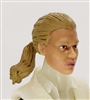 "Female Head: ""Talia""  Light Skin Tone with Light Brown Hair & Pony Tail - 1:18 Scale MTF Valkyries Accessory for 3-3/4"" Action Figures"