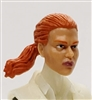 "Female Head: ""Talia""  Light Skin Tone with Red Hair & Pony Tail - 1:18 Scale MTF Valkyries Accessory for 3-3/4"" Action Figures"