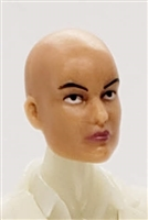 "Female Head: ""Grace""  Light Skin Tone with Bald Head - 1:18 Scale MTF Valkyries Accessory for 3-3/4"" Action Figures"