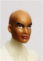 "Female Head: ""Grace""  Tan Skin Tone with Bald Head - 1:18 Scale MTF Valkyries Accessory for 3-3/4"" Action Figures"