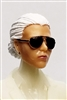 "Female Head: ""Reagan""  Light Skin Tone with Sunglasses, White Hair & Low Bun - 1:18 Scale MTF Valkyries Accessory for 3-3/4"" Action Figures"