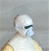 "Male Head: Mask with Goggles & Breather WHITE with Light Blue Version - 1:18 Scale MTF Accessory for 3-3/4"" Action Figures"