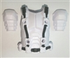 "Male Vest: Armor Type WHITE Version - 1:18 Scale Modular MTF Accessory for 3-3/4"" Action Figures"