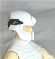 "Headgear: Tactical Helmet WHITE Version - 1:18 Scale Modular MTF Accessory for 3-3/4"" Action Figures"