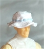 "Headgear: Boonie Hat WHITE with Light Blue Version - 1:18 Scale Modular MTF Accessory for 3-3/4"" Action Figures"