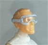 "Headgear: Standard Goggles with Strap WHITE Version - 1:18 Scale Modular MTF Accessory for 3-3/4"" Action Figures"