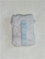 "Pocket: Large Size WHITE with Light Blue Version - 1:18 Scale Modular MTF Accessory for 3-3/4"" Action Figures"