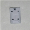 "Armor Panel: Large Size WHITE Version - 1:18 Scale Modular MTF Accessory for 3-3/4"" Action Figures"