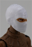 "Female Head: Balaclava Mask WHITE Version - 1:18 Scale MTF Valkyries Accessory for 3-3/4"" Action Figures"