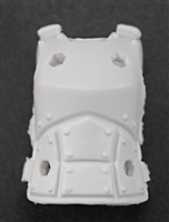 "Female Vest: Armor Type White Version - 1:18 Scale Modular MTF Valkyries Accessory for 3-3/4"" Action Figures"