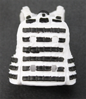 "Female Vest: Utility Type White Version - 1:18 Scale Modular MTF Valkyries Accessory for 3-3/4"" Action Figures"