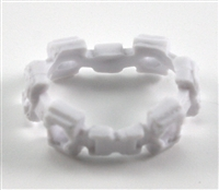 "Web Belt: WHITE Version - 1:18 Scale Modular MTF Accessory for 3-3/4"" Action Figures"