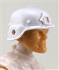 "Headgear: LWH Combat Helmet WHITE Version - 1:18 Scale Modular MTF Accessory for 3-3/4"" Action Figures"