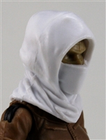 "Headgear: Hood WHITE Version - 1:18 Scale Modular MTF Accessory for 3-3/4"" Action Figures"