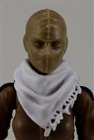 "Headgear: Large Neck Scarf ""Shemagh"" WHITE Version - 1:18 Scale Modular MTF Accessory for 3-3/4"" Action Figures"