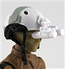 "Headgear: NVG Night Vision Goggles with Plug WHITE Version - 1:18 Scale Modular MTF Accessory for 3-3/4"" Action Figures"