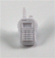 Radio Walkie Talkie: WHITE Version - 1:18 Scale MTF Accessory for 3 3/4 Inch Action Figures